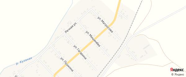 Улица Гагарина на карте села Большого Куганака с номерами домов