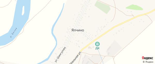 Центральная улица на карте деревни Ялчино с номерами домов