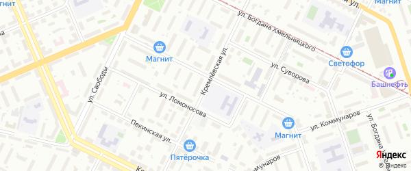 Кремлевская улица на карте Уфы с номерами домов