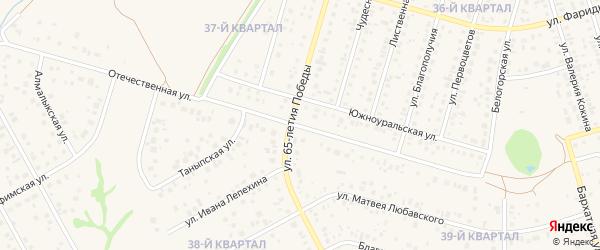 Отечественная улица на карте села Нагаево с номерами домов