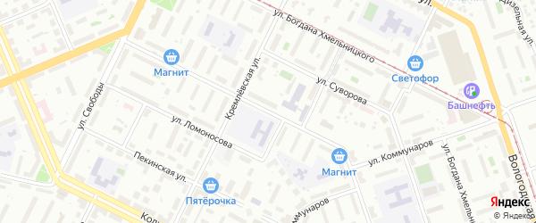 Борисоглебская улица на карте Уфы с номерами домов