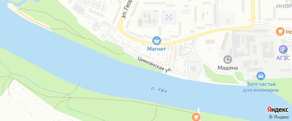 Цимлянская улица на карте Уфы с номерами домов