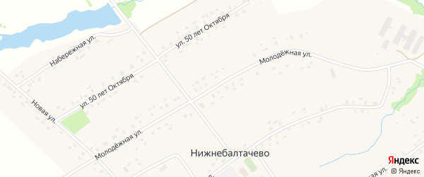 Молодежная улица на карте села Нижнебалтачево с номерами домов