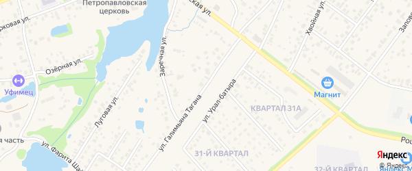 Заречная улица на карте села Нагаево с номерами домов