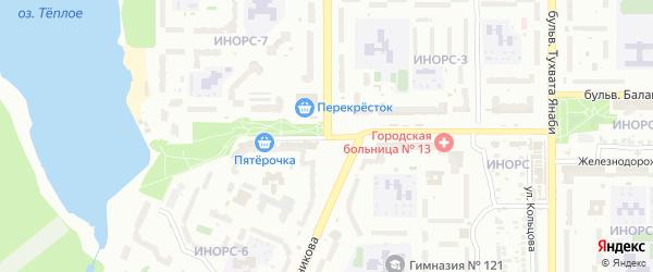 Улица Георгия Мушникова на карте Уфы с номерами домов