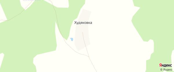 Карта деревни Худяковки в Башкортостане с улицами и номерами домов