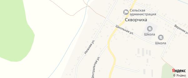 Нижняя улица на карте села Скворчихи с номерами домов