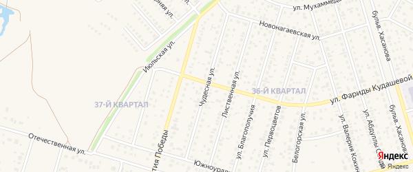 Чудесная улица на карте села Нагаево с номерами домов