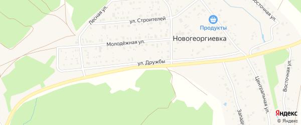 Улица Дружбы на карте деревни Новогеоргиевки с номерами домов