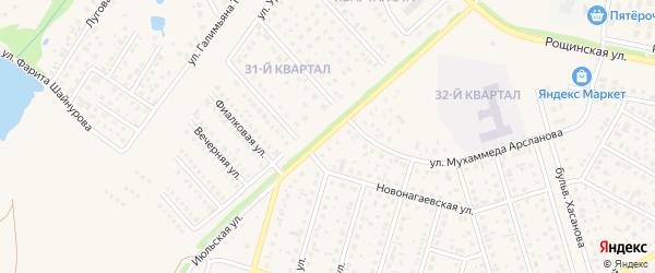 Улица 65-летия Победы на карте села Нагаево с номерами домов