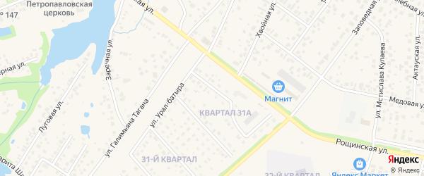 Улица Урал-батыра на карте села Нагаево с номерами домов