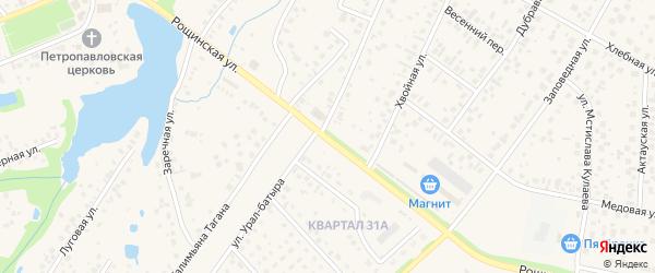 Рощинская улица на карте села Нагаево с номерами домов