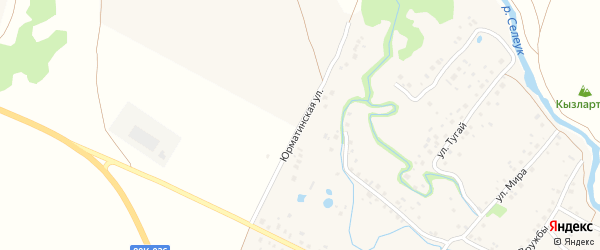 Юрматинская улица на карте села Ишеево с номерами домов