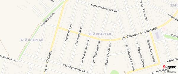 Улица Благополучия на карте села Нагаево с номерами домов