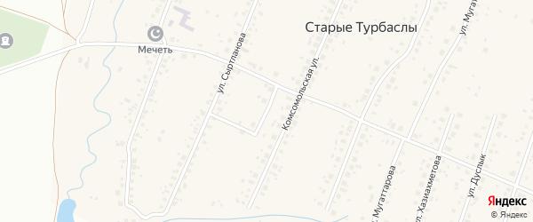 Родниковая улица на карте села Старые Турбаслы с номерами домов