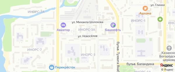 Улица Новоселов на карте Уфы с номерами домов