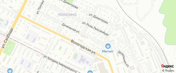 Дизельная улица на карте Уфы с номерами домов