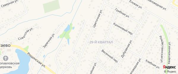 Цветочная улица на карте села Нагаево с номерами домов