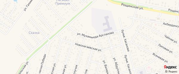 Улица Мухаммеда Арсланова на карте села Нагаево с номерами домов