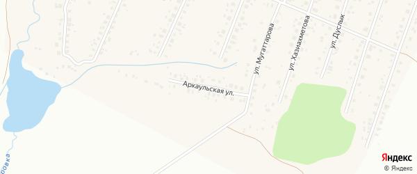 Аркаульская улица на карте села Старые Турбаслы с номерами домов