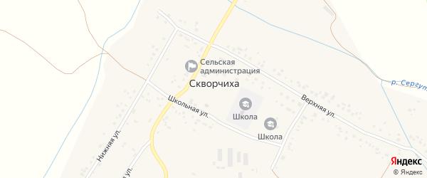 Заречная улица на карте села Скворчихи с номерами домов