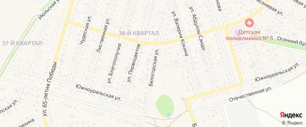Белогорская улица на карте села Нагаево с номерами домов