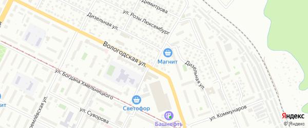 Улица Тургенева на карте Уфы с номерами домов