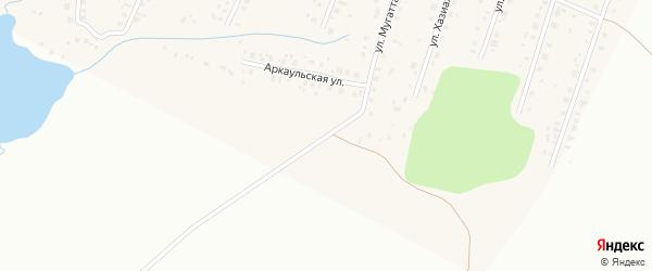 Улица Мугаттарова на карте села Старые Турбаслы с номерами домов