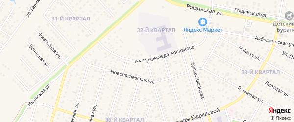 Улица Валерия Кокина на карте села Нагаево с номерами домов