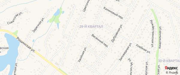 Хвойная улица на карте села Нагаево с номерами домов