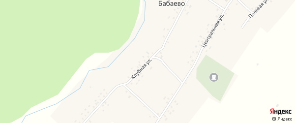Клубная улица на карте села Бабаево с номерами домов