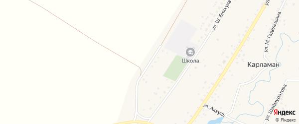 Молодежная улица на карте деревни Карламана с номерами домов