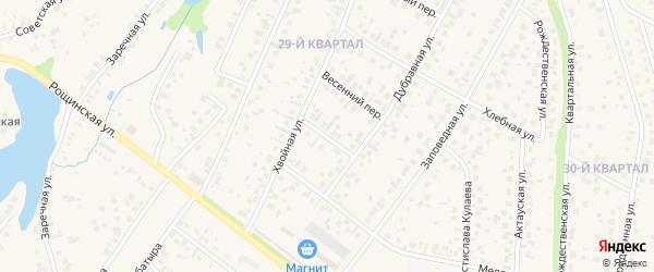 Виноградный переулок на карте села Нагаево с номерами домов
