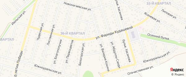 Улица Фариды Кудашевой на карте села Нагаево с номерами домов