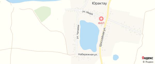Улица Чапаева на карте деревни Юрактау с номерами домов