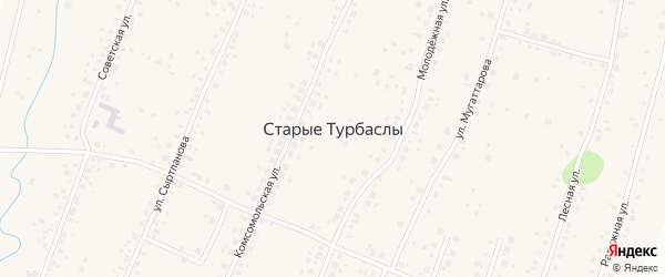 Улица Шаяхметовых на карте села Старые Турбаслы с номерами домов