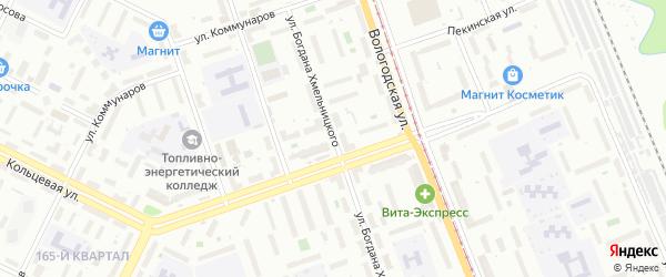 Улица Богдана Хмельницкого на карте Уфы с номерами домов