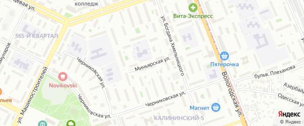 Миньярская улица на карте Уфы с номерами домов