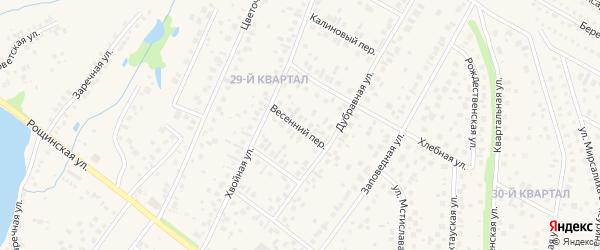 Весенний переулок на карте села Нагаево с номерами домов