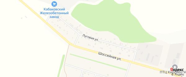 Луговая улица на карте деревни Кабаково с номерами домов