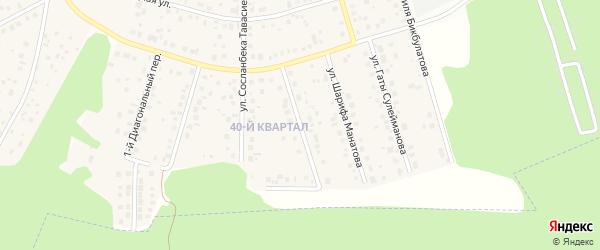 Улица Сабира Вагапова на карте села Нагаево с номерами домов