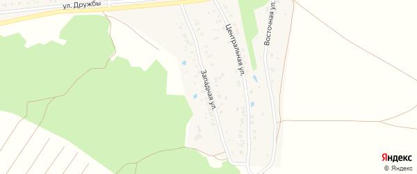 Западная улица на карте деревни Новогеоргиевки с номерами домов