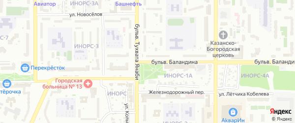 Бульвар Баландина на карте Уфы с номерами домов