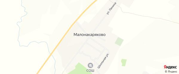 Карта деревни Малонакаряково в Башкортостане с улицами и номерами домов