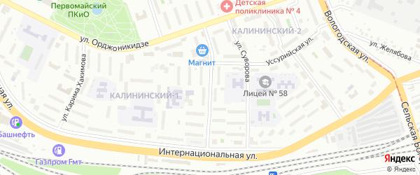 Улица Сергея Вострецова на карте Уфы с номерами домов