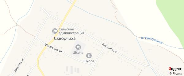 Верхняя улица на карте села Скворчихи с номерами домов