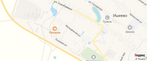 Молодежная улица на карте села Ишеево с номерами домов