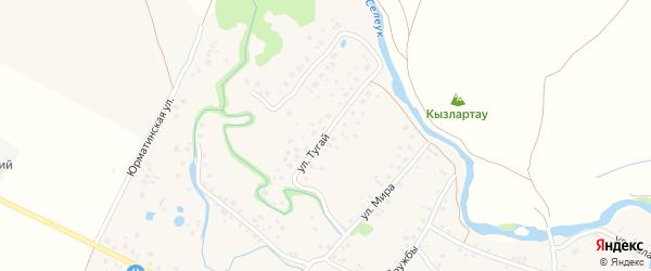 Улица Тугай на карте села Ишеево с номерами домов