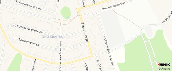 Бархатная улица на карте села Нагаево с номерами домов