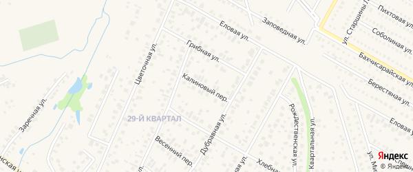Калиновый переулок на карте села Нагаево с номерами домов